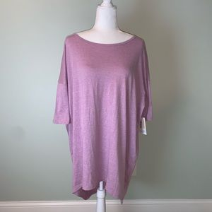 Lularoe IRMA solid Lilac purple scoop tee #3281